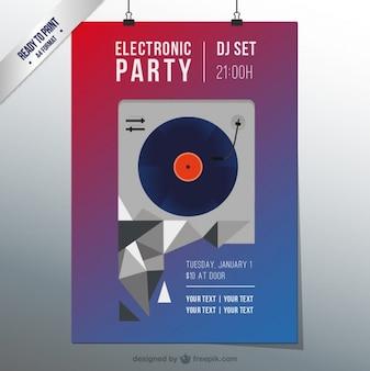 Electro techno party flyer
