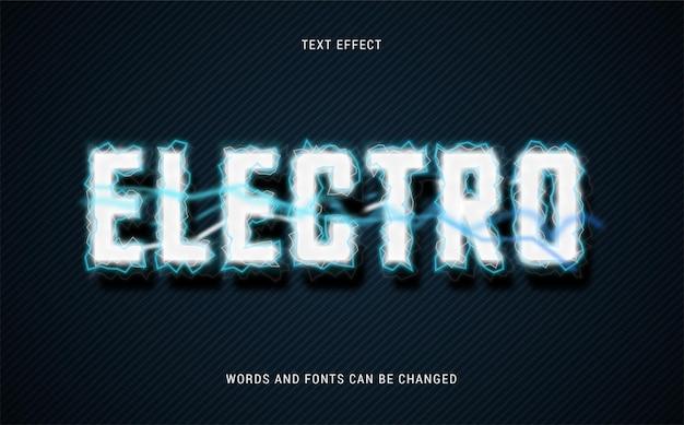 Electro teksteffect bewerkbare eps cc