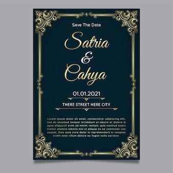 Elegand bruiloft uitnodiging sjabloon