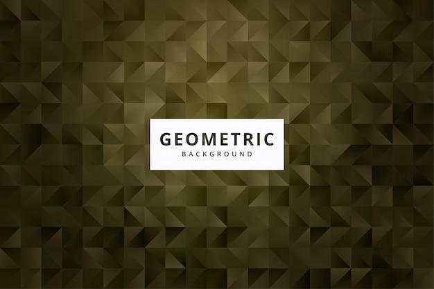 Elegant abstract geometrisch patroonbehang als achtergrond in gouden kleurenvector