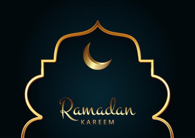 Elegant achtergrondontwerp voor ramadan karemm