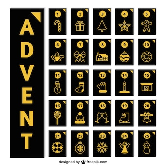 Elegant advent kalender met gouden details