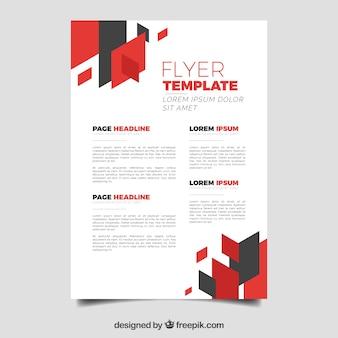 Elegant bedrijfsvliegermalplaatje met abstracte stijl