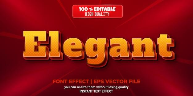 Elegant bewerkbaar teksteffect metallic en glanzende stijl