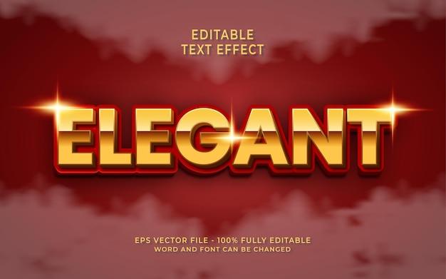 Elegant bewerkbaar teksteffect