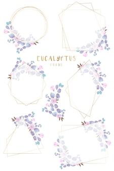 Elegant bloemen geometrisch kader dat prachtig wordt geschikt