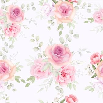 Elegant bloemen naadloos patroon met zachte bloemdecoratie