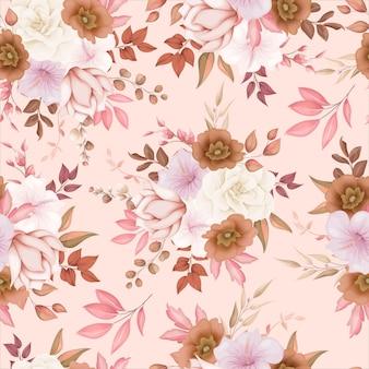 Elegant bloemen naadloos patroon Premium Vector
