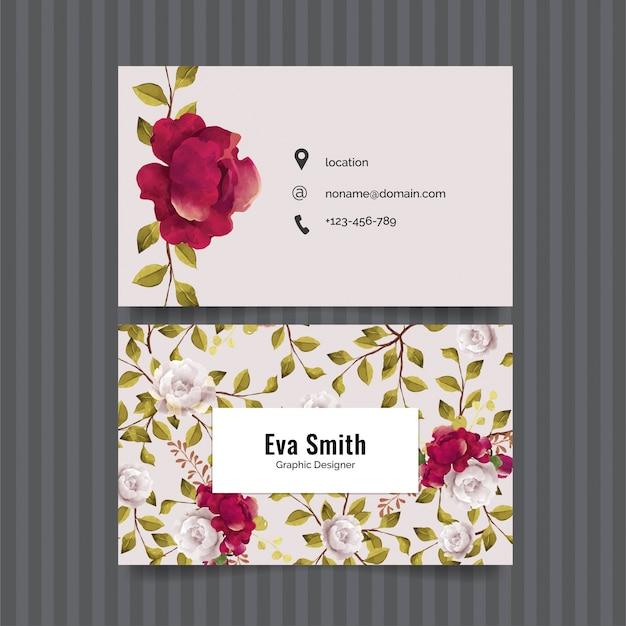 Elegant bloemen visitekaartje