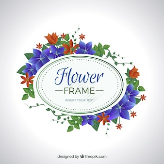 Elegant bloemenframe