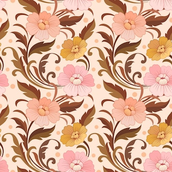 Elegant bloemenontwerp in vintage kleurenpatroonontwerp.
