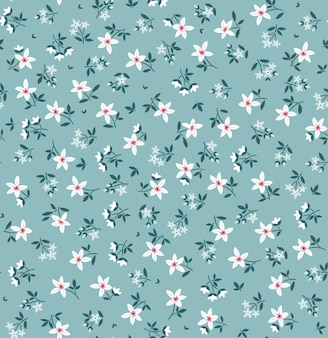 Elegant bloemenpatroon in kleine witte bloemen naadloze achtergrond voor modedruk ditsy print