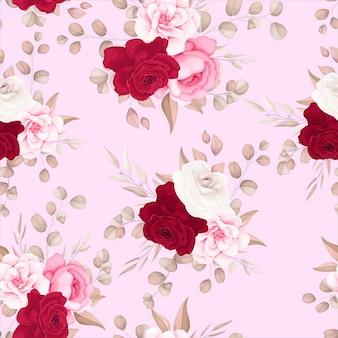 Elegant bloemmotief met zachte bloemen