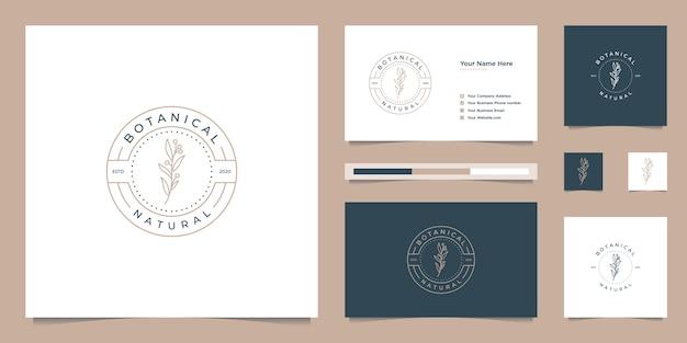 Elegant botanisch logo ontwerp embleem, symbool voor schoonheid, gezondheid en natuur