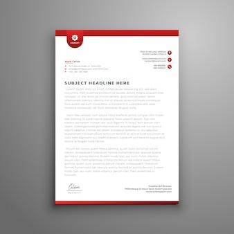 Elegant briefpapier sjabloonontwerp in minimalistische stijl