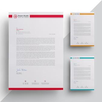 Elegant briefpapier template