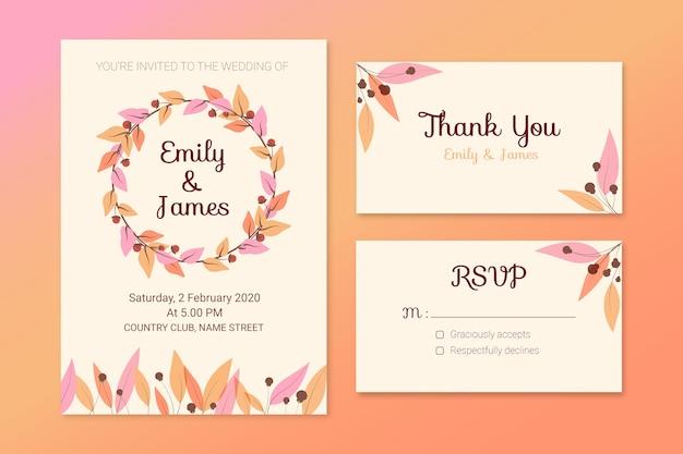 Elegant bruiloft briefpapier concept