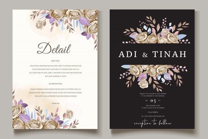 Elegant bruiloft uitnodigingskaart ontwerp