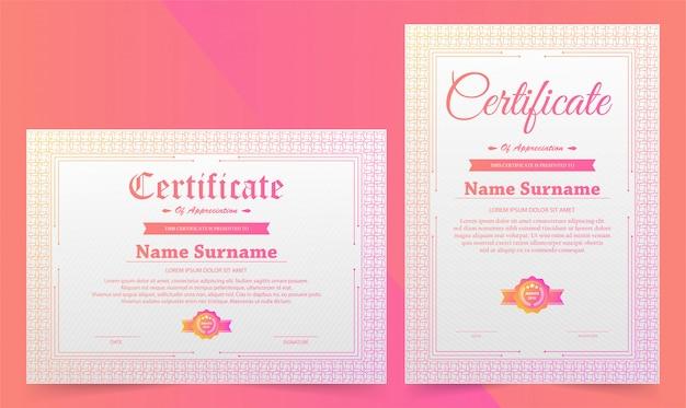 Elegant certificaat diploma retro vintage