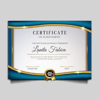 Elegant certificaat prestatiesjabloon