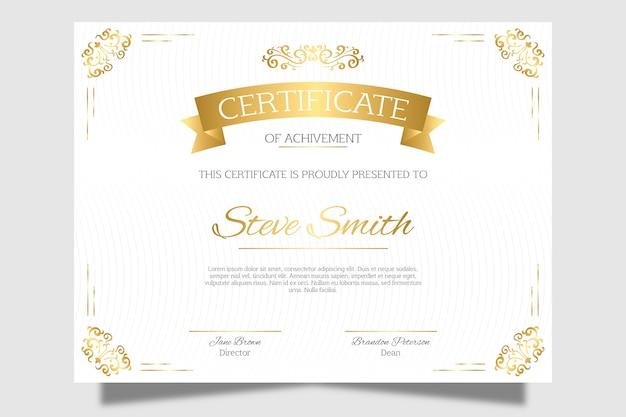 Elegant certificaat van erkenning