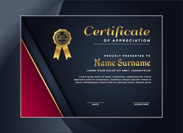 Elegant certificaat van prestatie-sjabloon