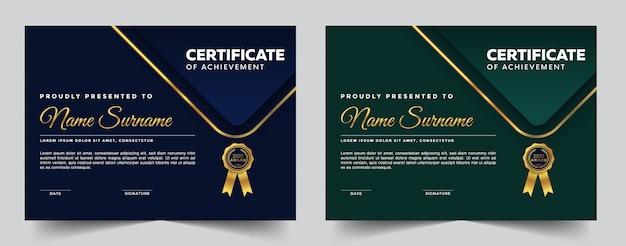 Elegant certificaat van waardering
