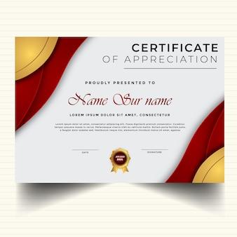 Elegant certificaatsjabloon modern diplomaontwerp