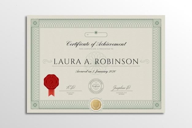 Elegant certificaatsjabloon