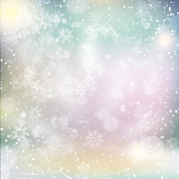 Elegant christmas achtergrond met sneeuwvlokken en plaats voor tekst.