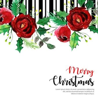 Elegant christmas stripe achtergrond