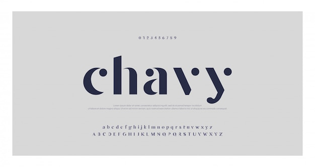 Elegant classic alfabet letters lettertype en nummer