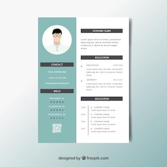 Elegant curriculummalplaatje met minimalistische stijl