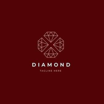 Elegant diamanten logo