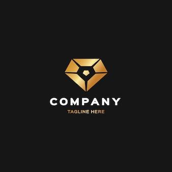Elegant diamantlogo met slogan