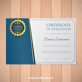 Elegant diploma blauwe en gouden