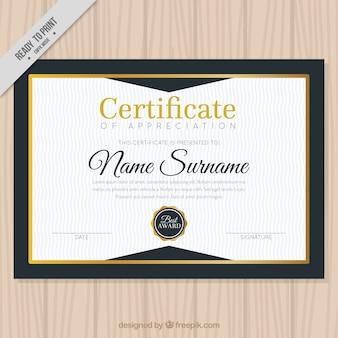 Elegant diploma met gouden detail