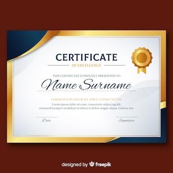 Elegant diplomamalplaatje met gouden elementen