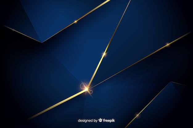 Elegant donker veelhoekig ontwerp als achtergrond