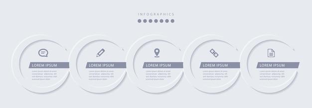 Elegant eenvoudig verfijnd stijl infographic ontwerp