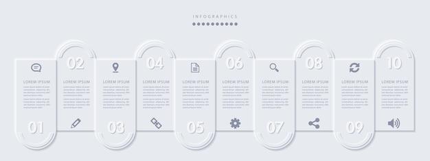 Elegant eenvoudig verfijnd stijl infographic ontwerp Premium Vector