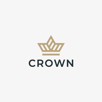 Elegant embleemontwerp met kroon.