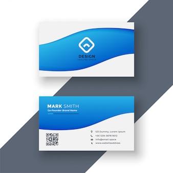 Elegant en eenvoudig blauw visitekaartjeontwerp
