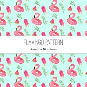 Elegant flamingopatroon