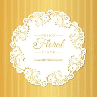 Elegant floral design frame