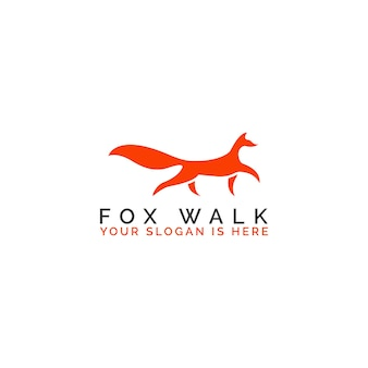 Elegant fox walk