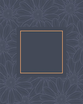 Elegant frame met bloemen