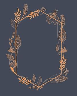 Elegant frame met oranje bladeren