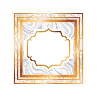 Elegant frame victorian geïsoleerd pictogram