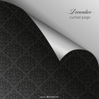 Elegant gekrulde donkere wallpaper